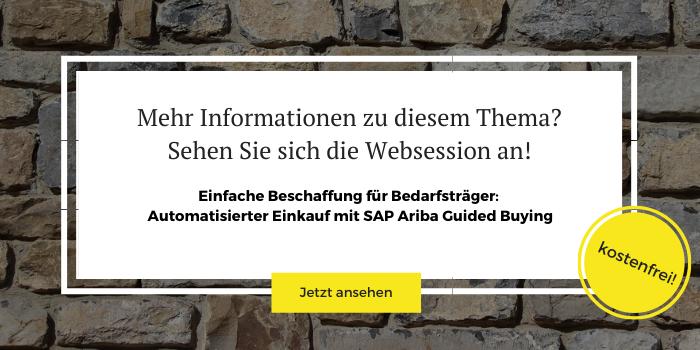 """Anmeldung zur kostenlosen Websession """"SAP Ariba Guided Buying"""""""