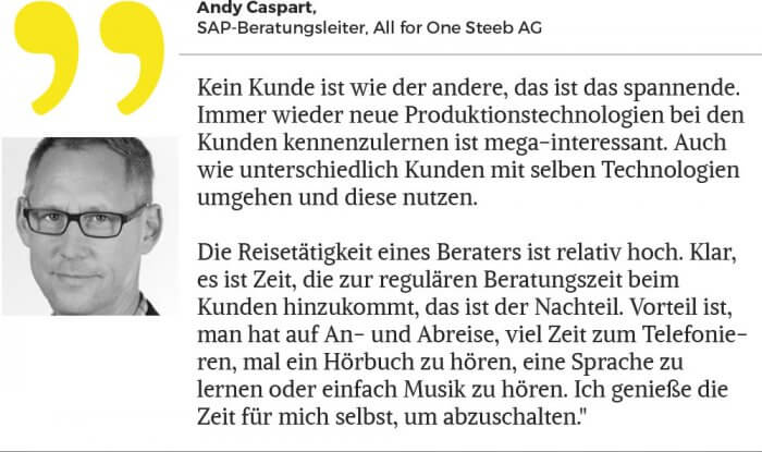 Andy Caspart, SAP-Beratungsleiter, All for One Steeb AG.