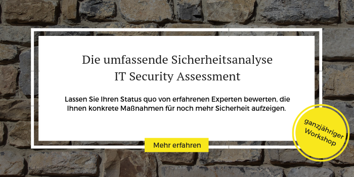 Anmeldung zum IT Security Training