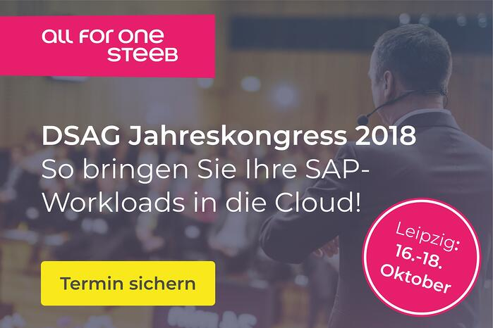 DSAG Jahreskongress 2018 Termin