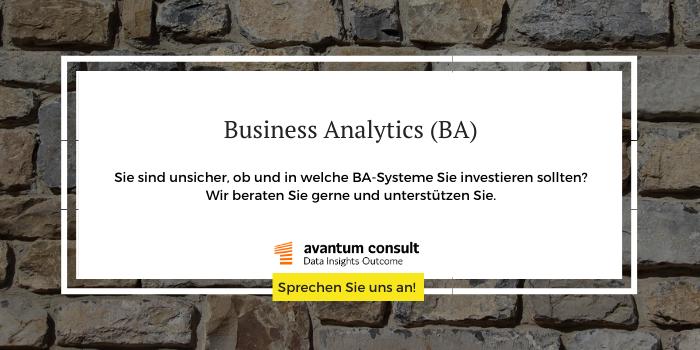 Erfahren Sie, ob und in welche BA-Systeme Sie investieren sollten