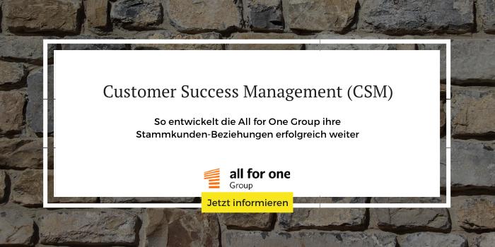 Sie möchten mehr zum Thema Customer Success Management (CSM) erfahren?
