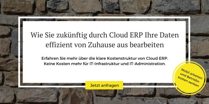 Mit Cloud ERP sicher und effizient im Homeoffice arbeiten