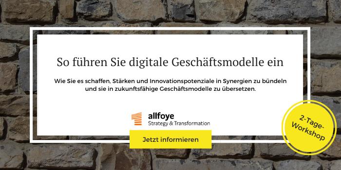 Workshops für innovative Geschäftsmodelle der Allfoye Managementberatung