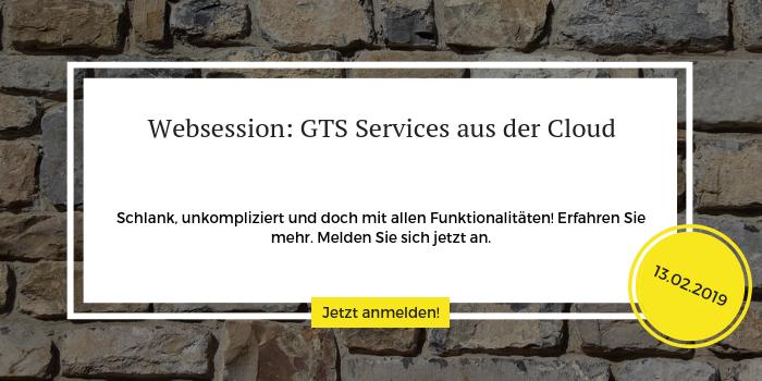 Anmeldung zur Websession GTA-Services aus der Cloud