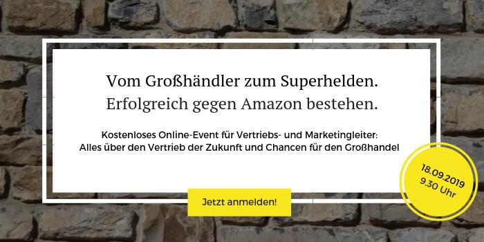 """Anmeldung zum kostenlosen Online-Event """"Vom Großhändler zum Superhelden"""""""