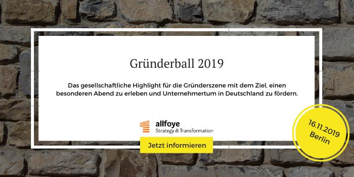 Infos und Anmeldung zum Gründerball 2019 in Berlin