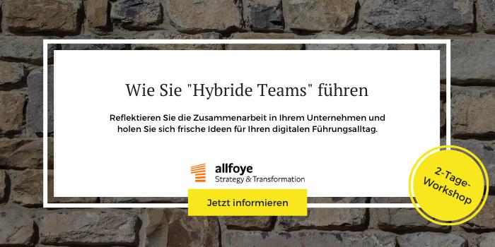 Workshop der Allfoye zur Führung hybrider Teams