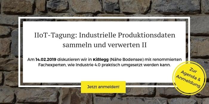 """Anmeldung zur IIOT-Tagung """"Industrielle Produktionsdaten sammeln und verwerten"""""""