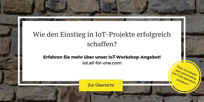 Anmeldung zum IoT Workshop