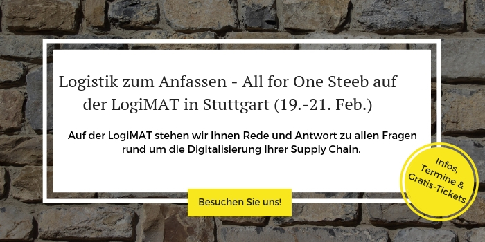 Anmeldung zur LogiMAT 2019 in Stuttgart