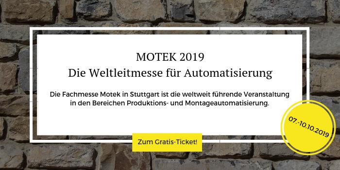 Sichern Sie sich Ihr kostenloses Ticket für die Motek 2019