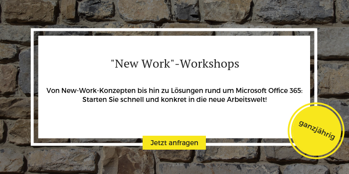 Anmeldung zu den New Work Workshops der All for One Group