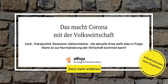 Podcast der Allfoye zum Thema Corona und Volkswirtschaft