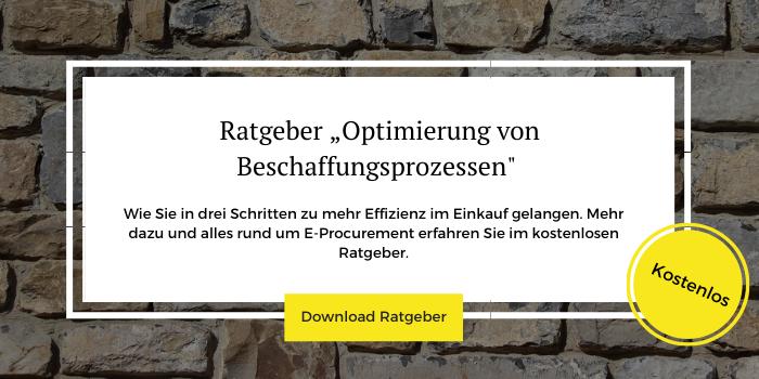 """Kostenloser Ratgeber """"Optimierung von Beschaffungsprozessen"""" zum Download"""