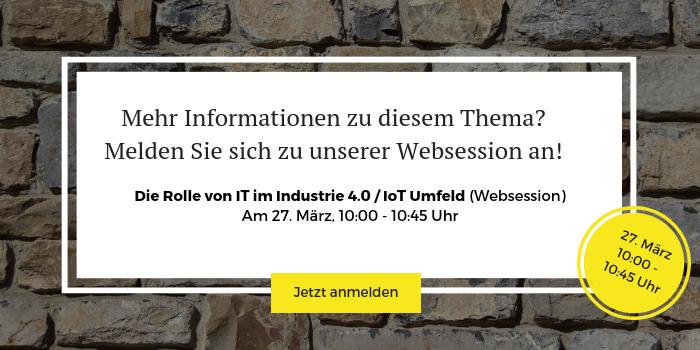Anmeldung zur IoT-Websession