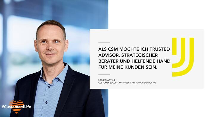 Erik Steegmans, Custom Success Manager bei All for One