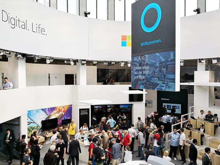 IFA Microsoft Stand mit Leoni und LeoniQ