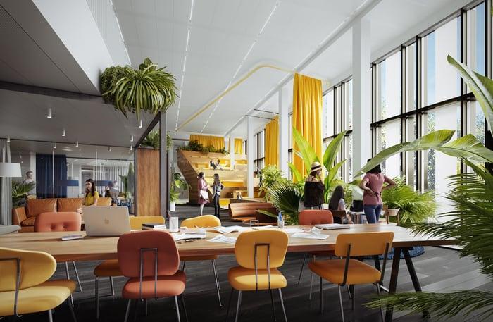 Das Edge Olympic in Amsterdam bietet ein ganz neues Arbeitsweltkonzept