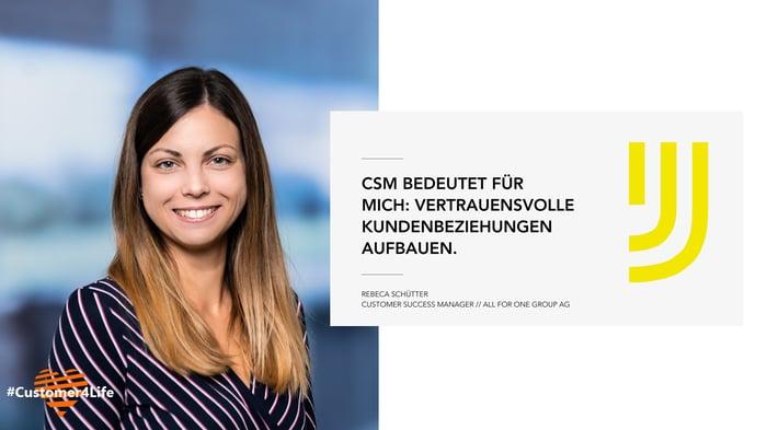 Rebeca Schütter, Customer Success Managerin bei All for One