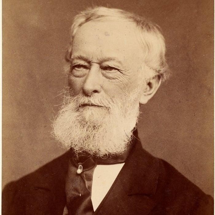 Firmengründer Alfred Krupp, etwa um das Jahr 1885 herum